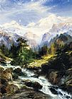 Thomas Moran In the Teton Range painting